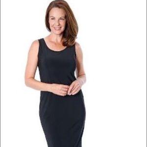 MARALLIS Dress Wide Straps Black Brazil Knit Sz L